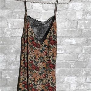 Zara Woman Dress Floral with Lace